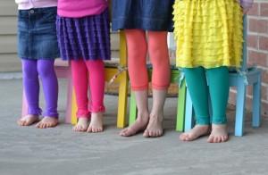 girls colored leggings