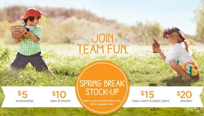 gymboree spring stock up sale