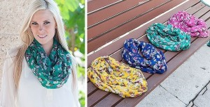 jane floral scarves 300x154 Flower Blossom Scarves for as low as $2.19 Shipped!