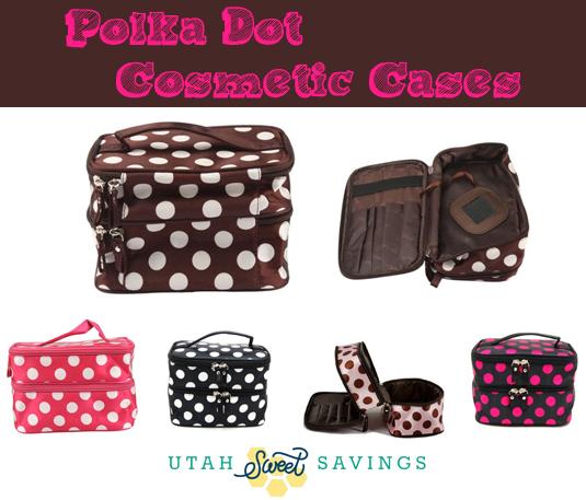 polka dot cosmetic cases Double Layer Polka Dot Cases $4 (Reg $35)