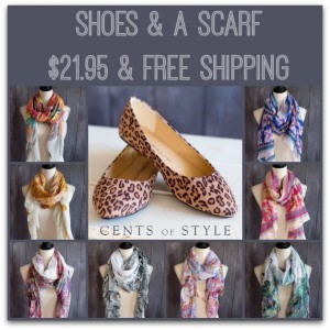 shoes and a scarf cents of style deal 300x300 Shoes and a Scarf for $21.95 Shipped! *Today Only*