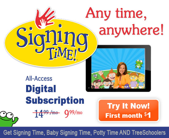 One Month Digital Subscription To Baby Signing Time Signing Time