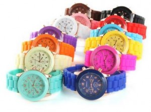 silicone colorful watches