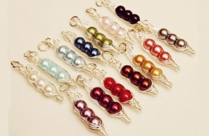 sweet pea colored necklaces