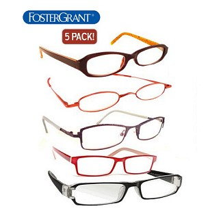 5 pack foster grant reading glasses
