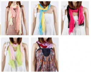 8 pack scarves 300x237 8 Pack Scarves for $10.99! Thats $1.37 Each!