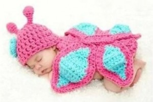 Baby Knit Butterfly Photo Prop Outfit