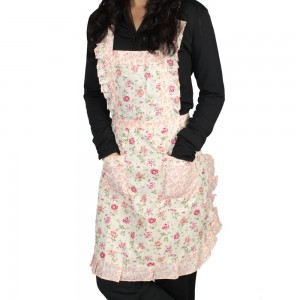 Cute apron 300x300 Pink and White Flower Apron $3.57!!  Free Shipping!