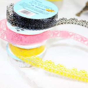 DIY Lace Hollow Stationery Stickers