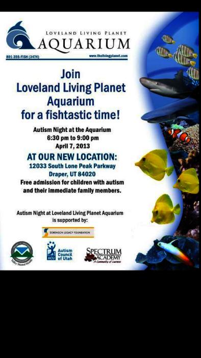 Free Aquarium Autism Night