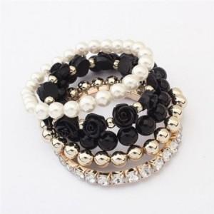 Rose Pearl Crystal Bracelet