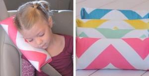 chevron seatbelt pillows