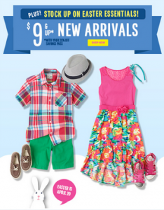 childrens place free shipping easter