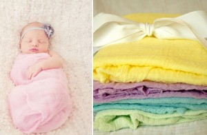hand dyed baby wrap blankets
