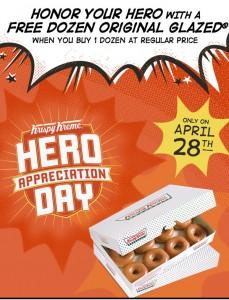 hero appreciation day krispy kreme