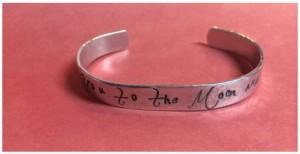 i love you to the moon bracelet