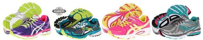 running shoes brooks asics saucony