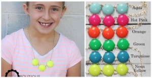 triple bubble necklace for girls