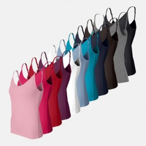 12-Pack Tank Top Camisoles with Adjustable Straps