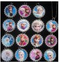15 DISNEY FROZEN Flat Bottle Cap Necklaces