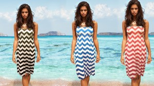 2 pack chevron print sundresses
