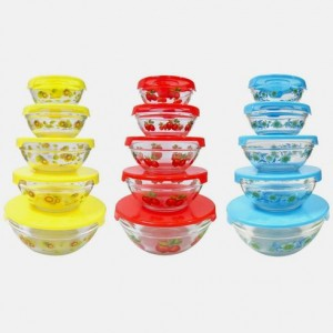20 piece glass bowl set