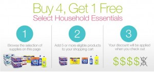 Buy 4 Get 1 FREE Household Products