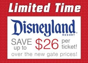 Disneyland ticket discount