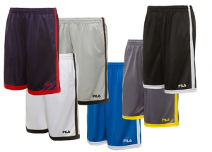 Fila Men's Athletic Shorts, 4 Styles, 20 Color Options