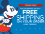 free shipping disney store