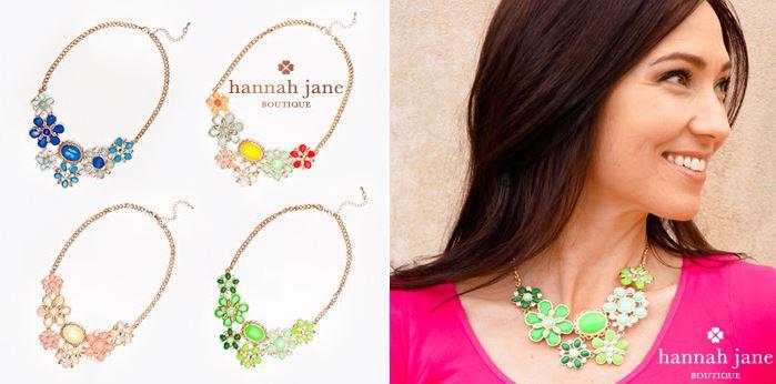 hannah jane bouquet bib necklaces