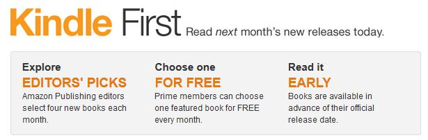 kindle first info Amazon Prime Members: 1 FREE Early Release Book EVERY Month! *Junes Titles*