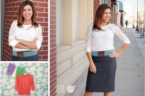 lace crochet shirt