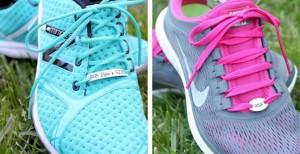 marathon running shoe pendant