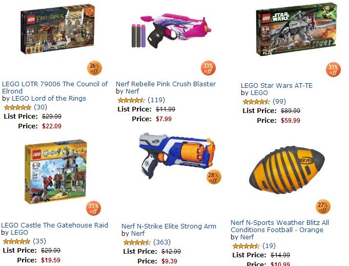 nerf lego toys sale