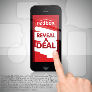 reveal a deal redbox code