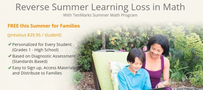 tenmarks free summer math program