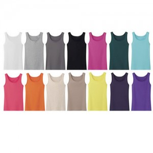 10-Pack Women's Ribbed 100 Cotton Tank Tops in 5 Sizes -BF