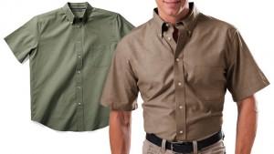 2-Pack Zorrel Men's Cotton Short Sleeve Chambray Shirts