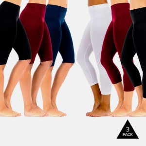 3-Pack Seamless Shorts and Capri Leggings