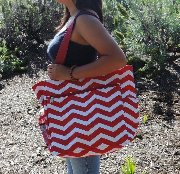 Chevron Beach Bag