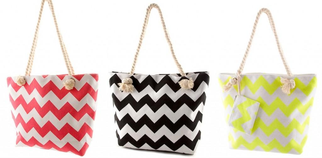 Chevron Beach Bags