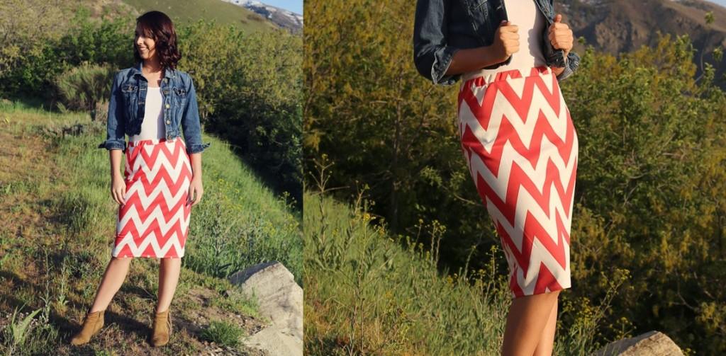 Chevron Penscil Skirts