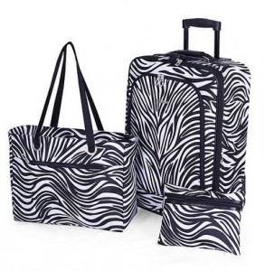 Ciao 3-Piece Luggage Set - Zebra