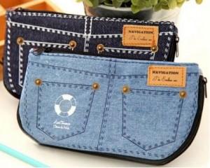 Denim Cosmetic Bag Pencil Cases 300x240 Pocket Denim Cosmetic Bag/Pencil Cases for $2.83 Shipped!