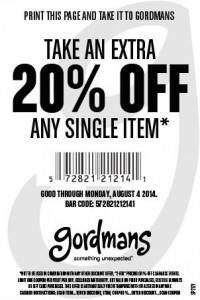 Gordmans Coupon printable