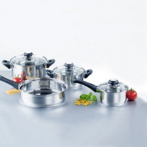 Home Collections 7 Piece Stainless Steel Cookware Set