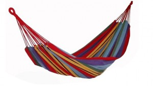 Multicolored Stripe Hammock and Carrying Bag