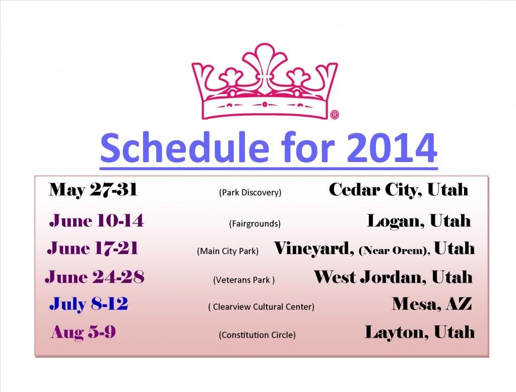 Princess Festival Schedule 2014