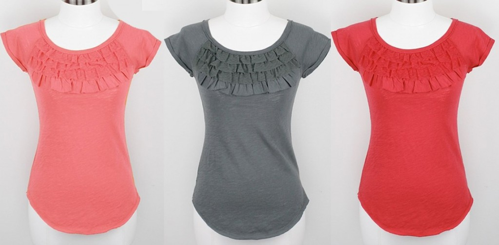Ruffle Front Tops